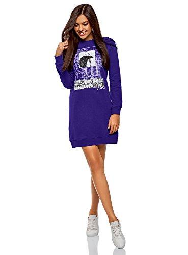 clasificación y comparación oodji ultra print sportswear vestido de mujer, azul, ES 34 / XXS para casa