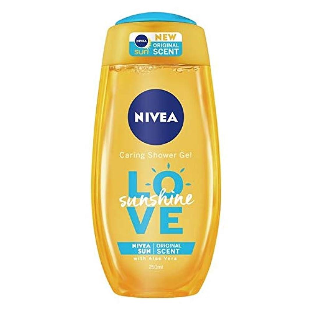 貧困正当化するお金ゴム[Nivea ] ニベアの日差しは、思いやりのシャワージェル250ミリリットルを愛します - Nivea Sunshine Love Caring Shower Gel 250ml [並行輸入品]