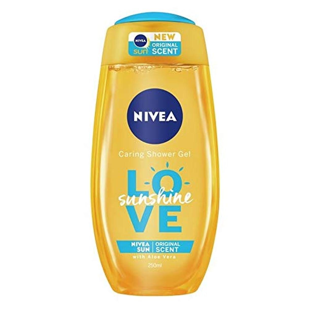 アミューズ干し草時系列[Nivea ] ニベアの日差しは、思いやりのシャワージェル250ミリリットルを愛します - Nivea Sunshine Love Caring Shower Gel 250ml [並行輸入品]