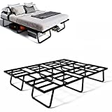 NEST SmartFold, Heavy Duty 14 Inch Metal Platform Bed Frame, Tool-Free Assembly, No Box Spring Needed - Queen
