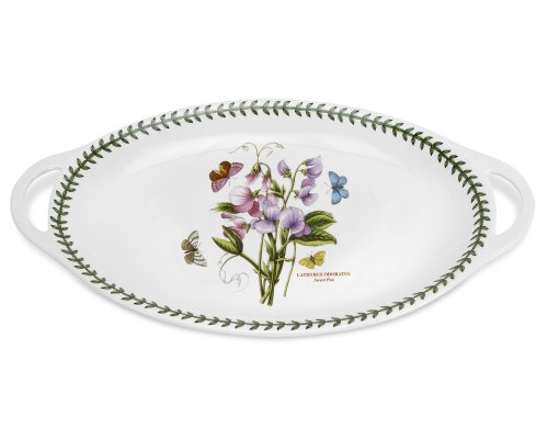 "Portmeirion Botanic Garden Oval Platter with Handles 18"" x 11.75"""