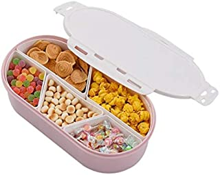 Fruits Nuts Plate with Lid Seal Detachable Multi Sectional Sub Grid, Phone Dry Box - Rotating Candy, Winterling Bavaria Fruit Plate, Plates Japan, Japan Plates, Dried Fruit Bowl Fillers