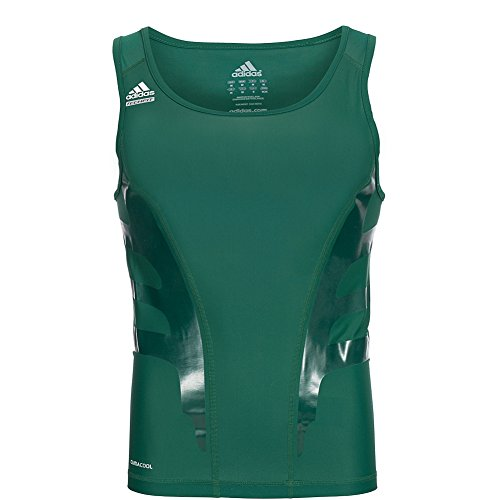 Adidas Powerweb Herren PWED Tank Techfit Shirt Top Fitness Training grün P56932 (XLT)