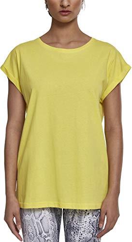 Urban Classics Ladies Extended Shoulder tee Camiseta, Amarillo (Bright-Yellow 01684), XS para Mujer