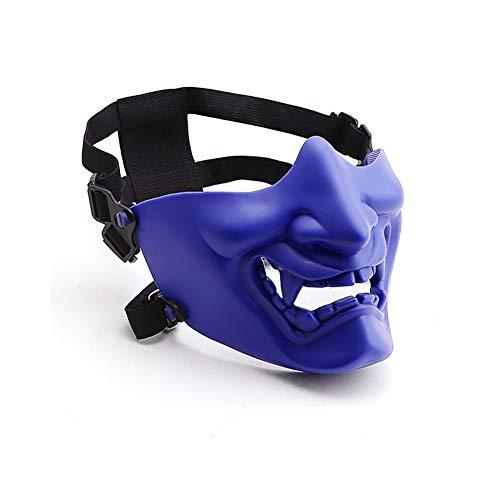 Máscara de calavera de Velity, para Halloween, paintball, CS, fiestas, carnaval, disfraz (azul)