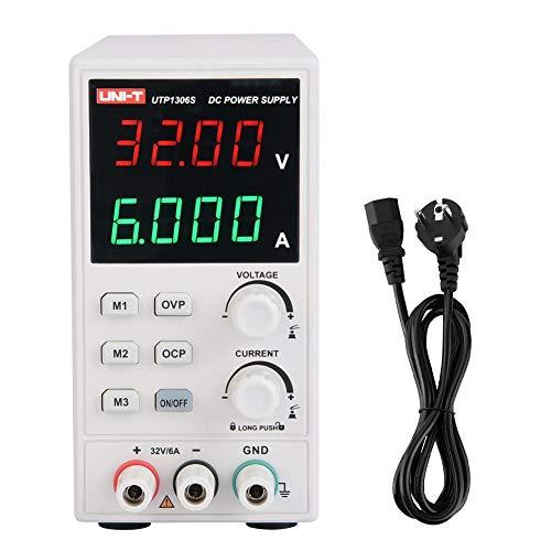Akozon UTP1306S Fuente de alimentación DC regulada Fuentes de alimentación de laboratorio DC regulada variable 32V 6A CC (AC110V/220V)