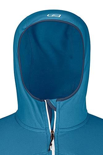 ORTOVOX Herren Fleece Light Hoody, Night Blue, XL