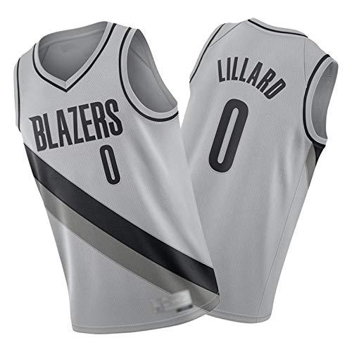 NQI Dǎmīǎn lǐlǎrd Blazers 0# Basketball Jersey para Hombre, 2021 Fan Adulto Tank Tank Top Swing Swingman Chaleco Limpieza repetible (S-2XL) L