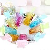 DIY Eiscream Form,Silikon Eisformen Süßigkeiten Formen Eismaschine Schalen Set,BPA Frei,Kinder Baby DIY Eisförmchen für Fruchtsaft,Püree,Joghurt, Früchten,Pudding,Schokolade,Sommerparty