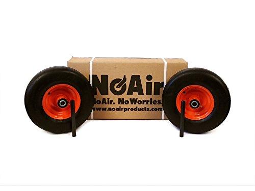 NoAir (2) Bad Boy Flat Free Wheel Assemblies 13x6.50-6 022-1050-00 Commercial Models