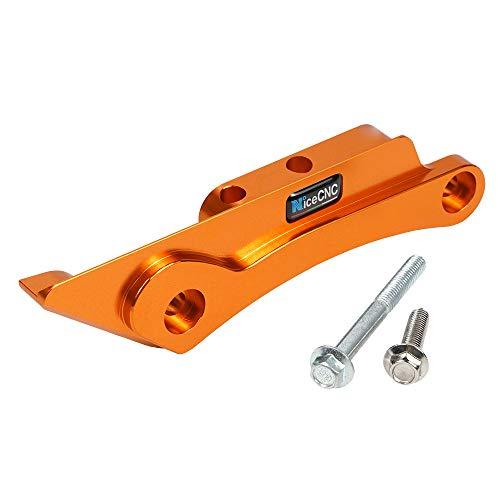 NICECNC Naranja Protector de protección de Cadena del basculante Trasero Compatible con KTM 125-500 SX SXF XC XCF EXC EXC-F XCW XCF-W TPI 6D Six Days 2012-2021 Husq-TC FC TE TE i FE TX FX 125-501