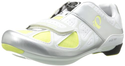 Pearl Izumi - Zapatillas para mujer road race rdiii , color blanco y amarillo, talla 3