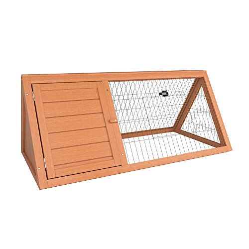 Home Discount Wooden Pet Rabbit Hutch Triangle, Bunny Guinea Pig Cage Animal House Enclosure Outdoor Run