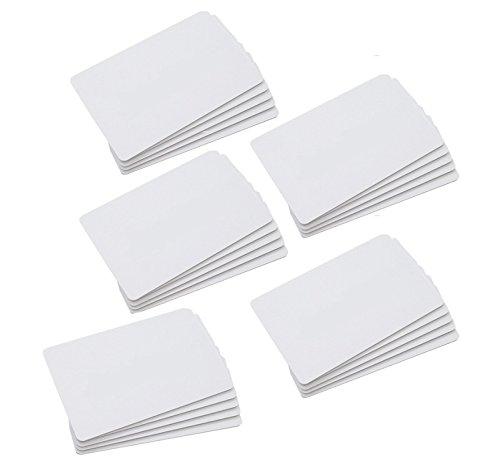 CHIPDRIVE Time Recording User Card (Mitarbeiter-Chipkarten) Touch&Go RFID - blanko - weiß (25 Stück)