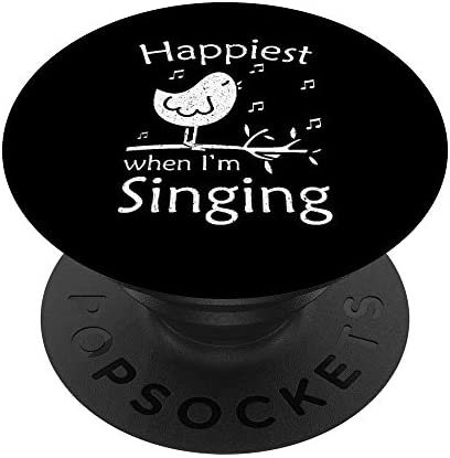 Love To Sing Love Singing Happiest When I m Singing PopSockets PopGrip Swappable Grip for Phones product image