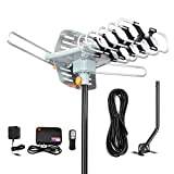 Best Digital Antennas - Digital Outdoor Amplified hd tv Antenna 150 Miles Review