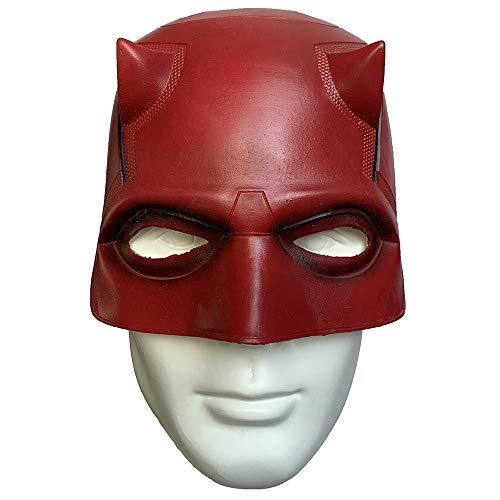 ZMJ DD Daredevil Matt Mask Helmet Latex Cosplay Masquerade Party Halloween Costume Props Red