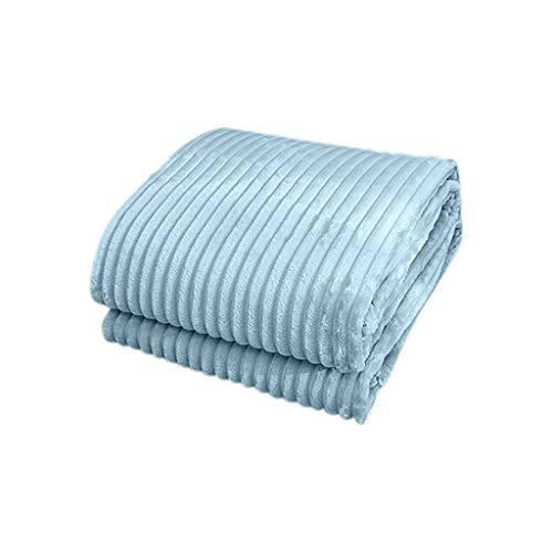 Premium Flanell Kuscheldecke,Weicher, Atmungsaktiver, Warmer Steppbezug Sofadecke aus Polyester,Plüsch Fleecedecke Tagesdecke Wohndecke Bettdecke Wohnzimmerdecke (Blue, 200x230cm)