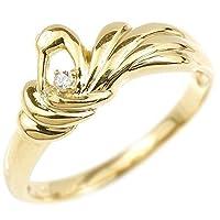 [アトラス] Atrus リング レディース 18金 イエローゴールドk18 ダイヤモンド 鶴 エンゲージリング 指輪 26号