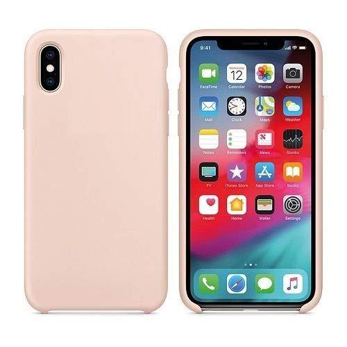 CABLEPELADO Funda Silicona iPhone X/XS Textura Suave Color Rosa Arena
