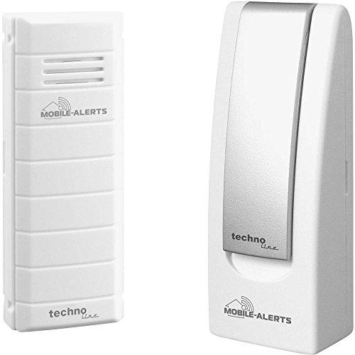 Mobile Alerts MA 10001 Starter Set Hausüberwachungssystem,2-teilig, inklusive Gateway und Temperatursender MA 10100 (mit Alexa kompatibel) zur Temperaturüberwachung, 4x2,5x10,3cm