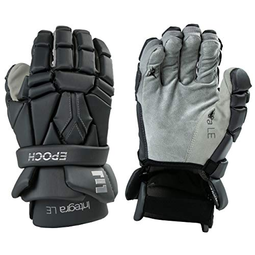 Epoch Integra LE Lacrosse Gloves with Tri-Layer Dual-Density Foam for Attack, Middie and Defensemen, Medium, Grey