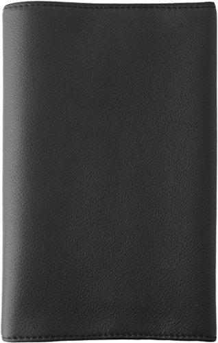 スリップオン フリータイプ新書判ブックカバー OSL 革 ブラック OSL-3601