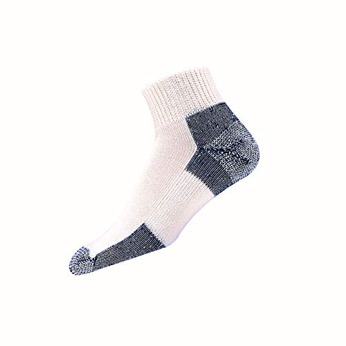Thorlos Unisex JMX Running Thick Padded Ankle Sock, White, XLarge