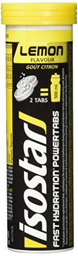 Isostar Powertabs Sportgetränk (6 Tuben mit je 10 Tabs) – Iso Drink für intensives Training – kalorienreduziertes Elektrolyte Getränk – Zitrone