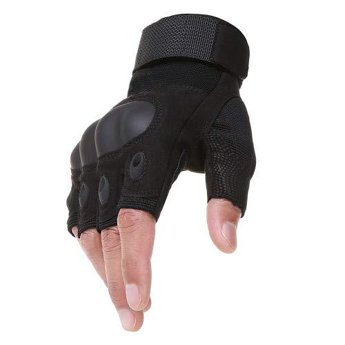MYSdd Motorrad Fingerlose Handschuhe Knöchel hart Motorrad Motocross Bike Racing Halbfinger Motorrad Schutzhandschuhe - Schwarz XMX Russische Föderation