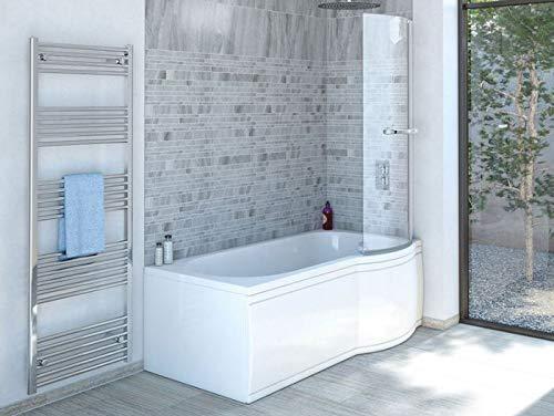 Duschbadewanne 170x85 cm R mit Badewannenaufsatz - Badewanne mit Dusche