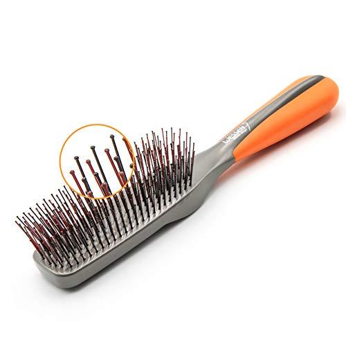PROFI Haarbürste Damen Herren Extensions Entwirren, Stylen - Wasserfest, Shampoonieren, Schutz vor Haarausfall, Anti-Haarbruch, Kopfreinigungsbürste - Friseurbürste Innovation 2020 - Vital Brush