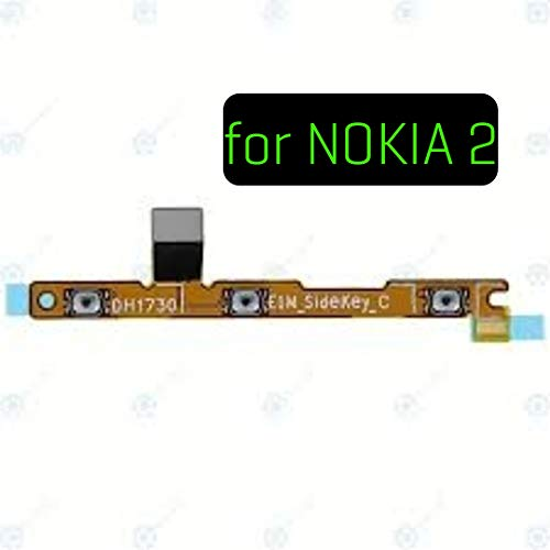 SPAREWARE Power On Off Volume Button Up Down Key Flex Cable Part Compatible for Nokia 2
