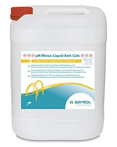 Bayrol Liquid Anti Calc 20 L Flüssiges pH-Minus, Weiß