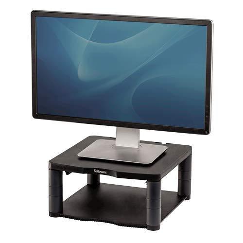 Fellowes Monitorständer Premium, höhenverstellbar in 5 Stufen, ergonomisch, sehr stabil für Monitore bis 21 Zoll,), mit Ablage