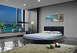 commercial GREATIME B1159 Contemporary Round Bed, Queen, Black big circle beds 2