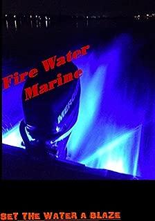 Firewatermarine Super Bright Blue 1000 LUMENS Garboard Brass Boat Drain Plug Light