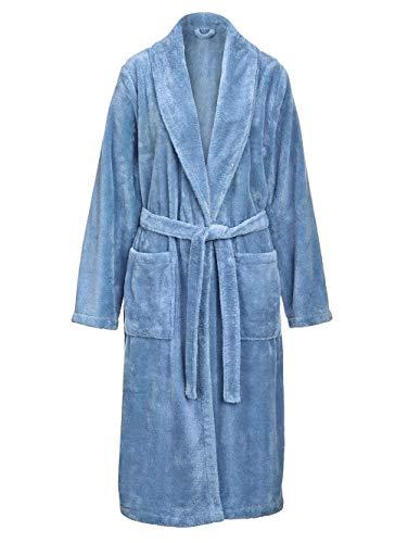 Harmony Bademantel in weicher Flausch-Qualität Blau