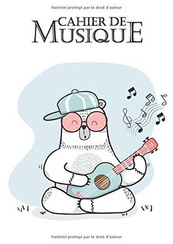 Cahier de Musique: Carnet de partitions vierges - Grand format - 1 pages de partition et 1 page de notes - écoliers,  étudiants,  amateurs ou professionnels musiciens seront conquis.