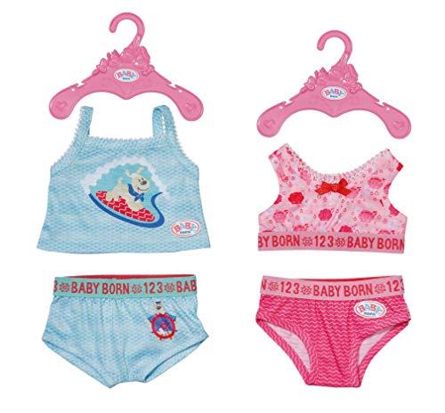 Zapf Creation 830123 BABY born Unterwäsche 43 cm - rosa oder türkise Puppen-Unterwäsche - 1 Stück, Farbe nach Vorrat
