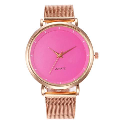 YLBHD Relojes de Mujer Moda Hebilla magnética Deslumbrante Mujeres Cinturón de Malla...