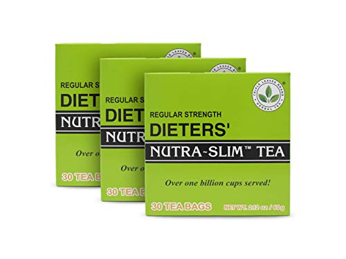 THREE BOXES of 30 tea bags Regular Strength Dieters' Nutra-Slim Tea Triple Leaves Brand
