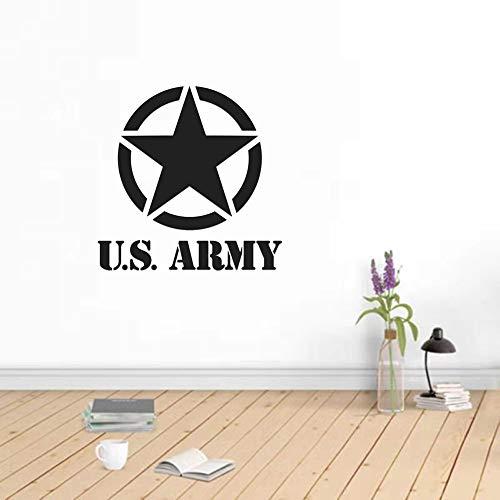 Pegatinas de pared de estrellas del ejército de EE. UU. Para fondo de fotografía de vinilo para ventanas de esquina, sala de estar, sala de estar, oficina, dormitorio, decoración