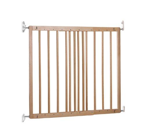 Baby Dan Multidan Holz Tür und Treppenschutzgitter aus Europäischer Buche, Türbreite 60.5-102 cm, Farbe: Natur