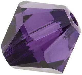 SWAROVSKI ELEMENTS Crystal #5328 6mm Bicone Beads Purple Velvet (20)
