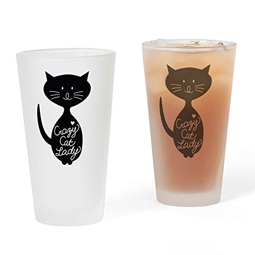 CafePress–Crazy Cat Lady–Pint-Glas, 16oz Trinkglas frosted