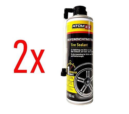XADO Auto Reifen-Dichtmittel Reifendicht Reifen-Reparatur 1. Hilfe Panne Reifen-Füller - ATOMEX - 2er Set