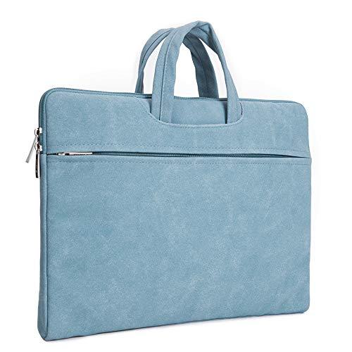 IMAVO Laptop-Hülle für 13-13,3 Zoll Laptop Hülle mit Tragbarem Handgriff Wasserdicht Computer Tasche Kompatibel mit 13 Zoll MacBook Pro/Air 13,5 Surface Laptop 2/3 Blau