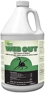 Web Out (1 Gallon) Spider Killer Web Eliminator SPIDER REPELLANT Excellent Spider Control Long Lasting Ready to Spray, la araña
