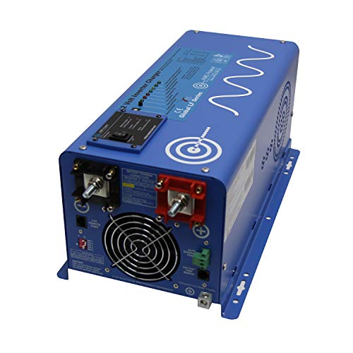 AIMS Power PICOGLF30W12V120VR 3000 Watt and 9000 Watt Surge 12VDC Input to 120VAC Output Pure Sine Inverter Charger Backup Power